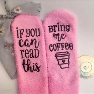 Accessories - Bring Me Coffee Pink Cupcake Socks